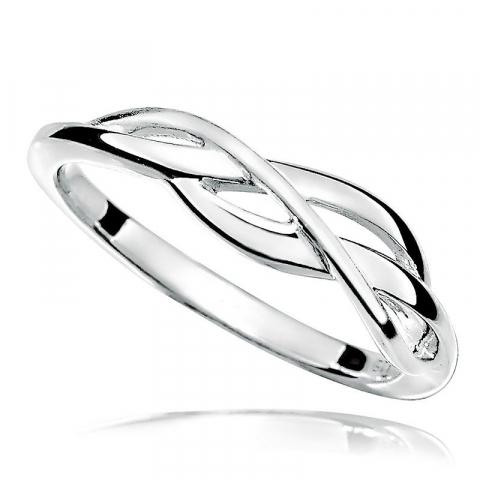 Eenvoudige ring in gerodineerd zilver