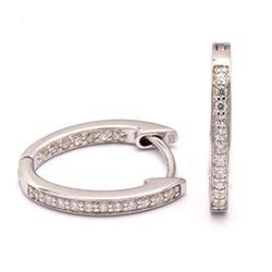 18 mm zirkoon creool in zilver