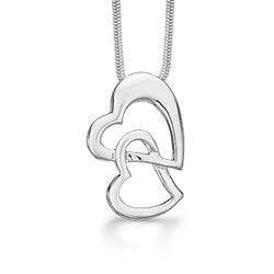 Mooi RS of Scandinavia hart hanger met ketting in zilver