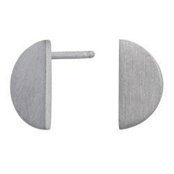 Moderne NORDAHL ANDERSEN halve maan oorbellen in gerodineerd zilver