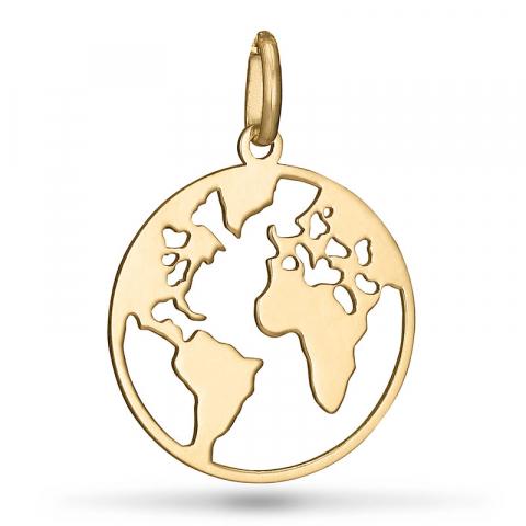 World hanger in 9 karaat goud