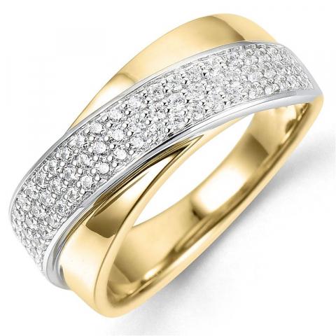 Bestelde artikel -  diamant ring in 14 karaat goud-en witgoud 0,51 ct