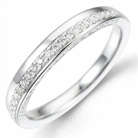 Bestelde artikel -  diamant ring in 14 karaat witgoud 0,24 ct