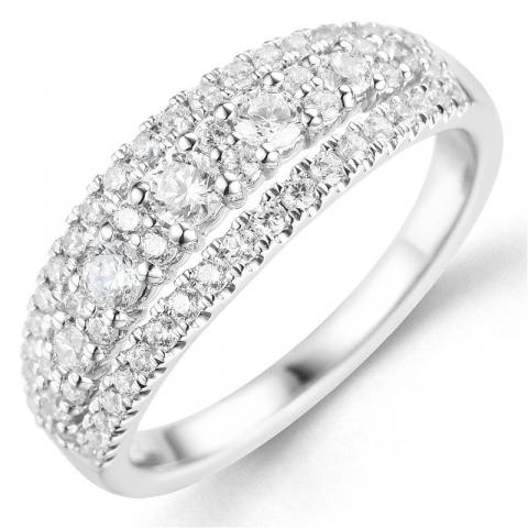 Bestelde artikel -  diamant ring in 14 karaat witgoud 0,75 ct