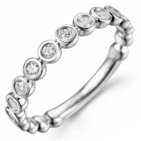 Bestelde artikel -  diamant ring in 14 karaat witgoud 0,33 ct