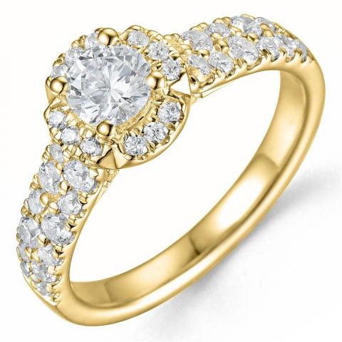 Bestelde artikel -  diamant ring in 14 karaat goud 0,40 ct 0,60 ct