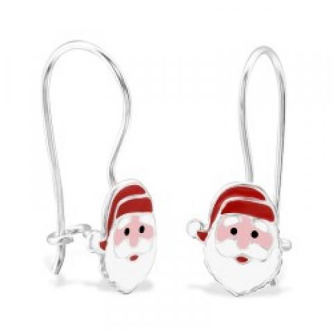Kerstman oorbellen in zilver
