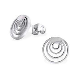 Moderne rond oorsteker in roestvrij staal