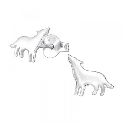 Mooie honden kinder oorbellen in zilver