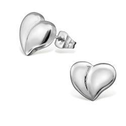 Mooi hart oorsteker in roestvrij staal