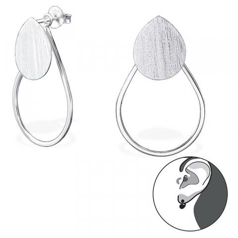 Mooie druppel oorbellen in zilver