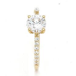 Mooi witte zirkoon ring in 9 karaat goud