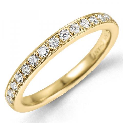 Diamant ring in 14 karaat goud 0,26 ct