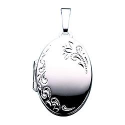 Scrouples ovale medaillon in zilver