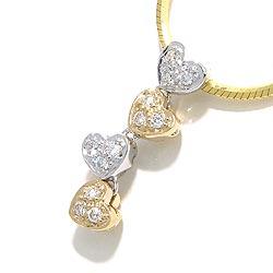 Mooi hart diamant hanger in 14 caraat goud-en witgoud 0,15 ct