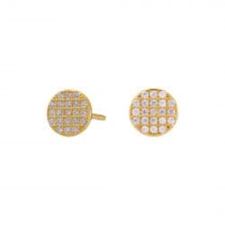 Joanli Nor rond oorbellen in verguld sterlingzilver witte zirkonen