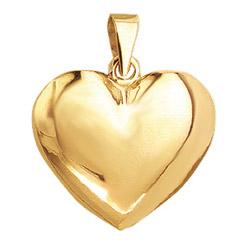 Aagaard hart hanger in verguld sterlingzilver
