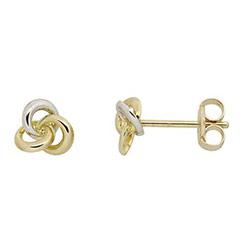 Støvring Design oorbellen in 8 karaat goud met 8 karaat witgoud