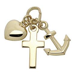 Støvring Design geloof-hoop-liefde hanger in 8 karaat goud