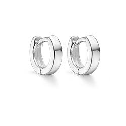 10 mm Støvring Design creool in zilver