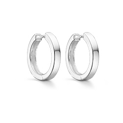 18 mm Støvring Design creool in zilver