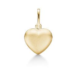 Elegant Støvring Design hart hanger in 8 karaat goud