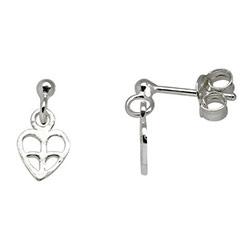 Støvring Design hart oorbellen in zilver