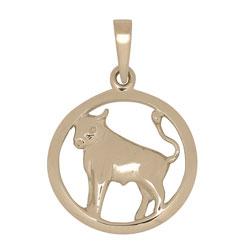 Mooi Siersbøl sterrenbeeld stier hanger in 14 karaat goud