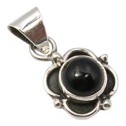 Zwart onyx hanger in geoxideerd sterlingzilver