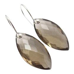 Kwarts oorbellen in zilver