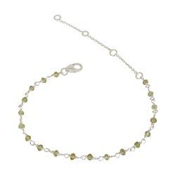 Elegant peridoot armband in zilver 15 cm plus 4 cm x 3,0 mm
