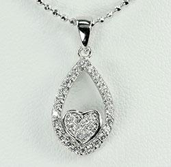Schattig hart hanger in zilver