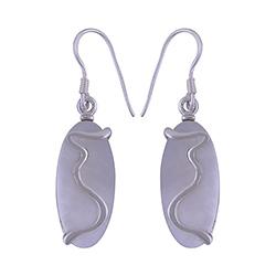 Parelmoer oorbellen in zilver
