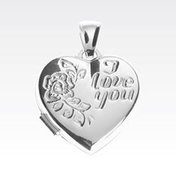 Hart medaillon hanger in zilver