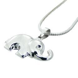 Mooi olifant hanger in zilver