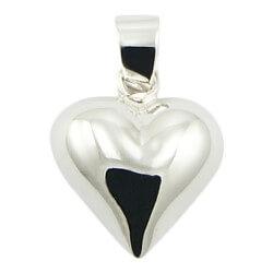 Mooi hart hanger in zilver