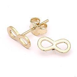 Mooie infinity oorbellen in 14 karaat goud