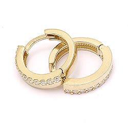 12,5 mm creooloorbellen in 14 karaat goud met zirkoon