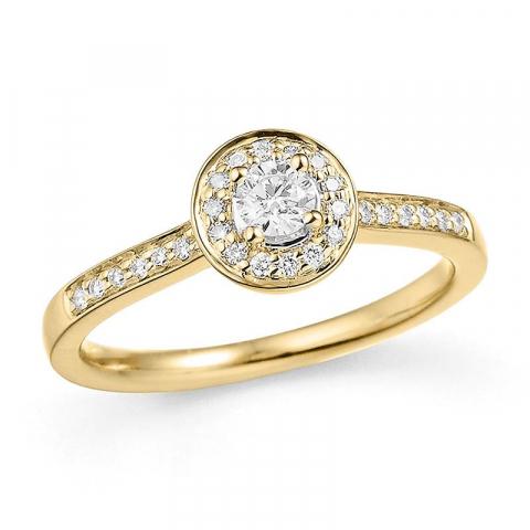 Mooi diamant ring in 14 karaat goud 0,34 ct