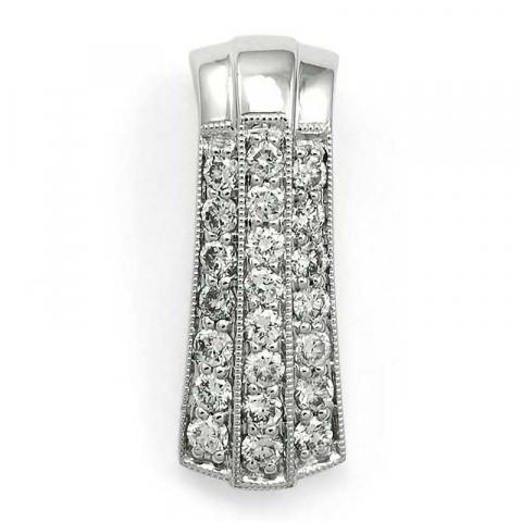 Groot diamanten hanger in 14 caraat witgoud 0,52 ct