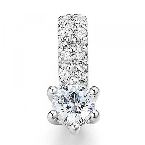 schattig diamant hanger in 14 caraat witgoud 0,275 ct 0,056 ct