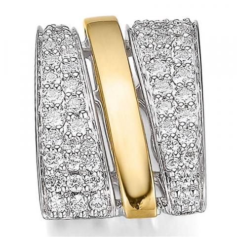 Schattig diamant hanger in 14 caraat goud-en witgoud 0,532 ct