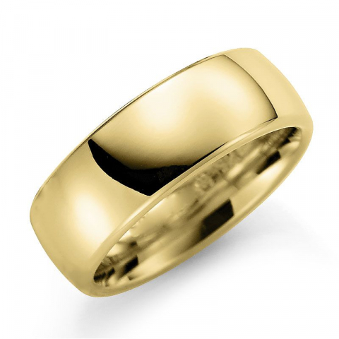 Glanzend 7 mm trouwring in 9 karaat goud