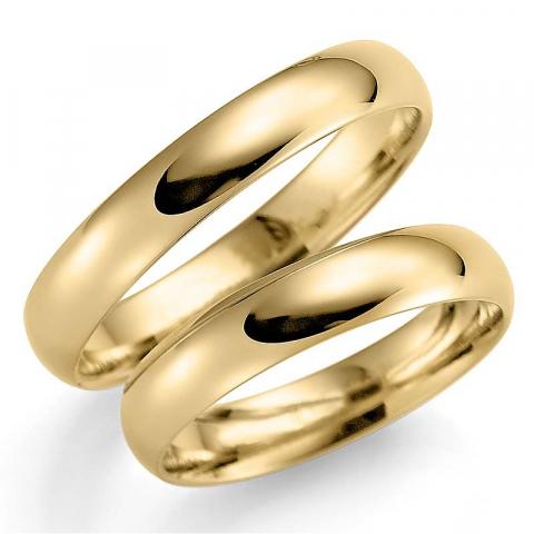 Mooie 4 mm trouwringen in 9 karaat goud - set