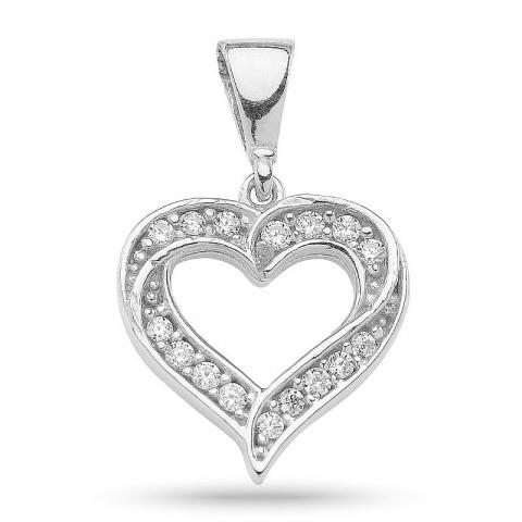 Leuk hart hanger in zilver
