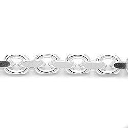 Mooi ankerketting in zilver 50 cm x 5,6 mm