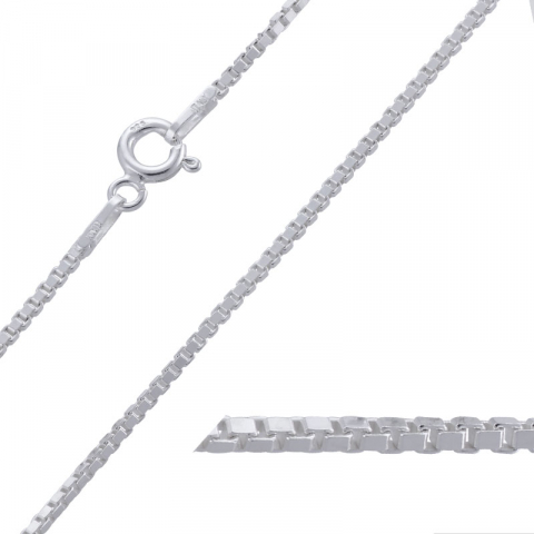 Leuk venetiaanse ketting in zilver 55 cm x 1,2 mm