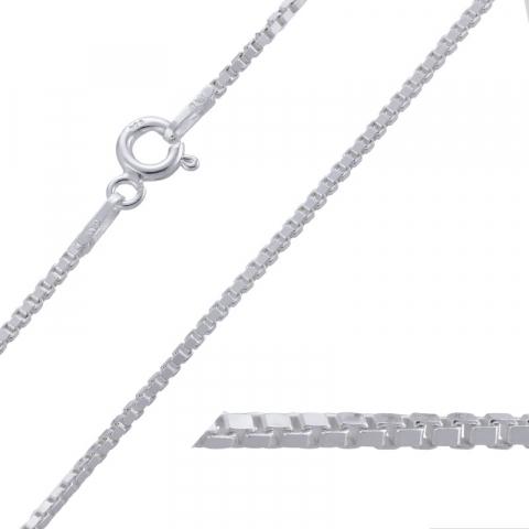 Leuk lange venetiaanse ketting in zilver 80 cm x 1,2 mm