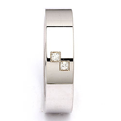 Trouwring in zilver 0,030 ct
