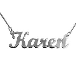 Moderne Naamkettingen met hanger in zilver